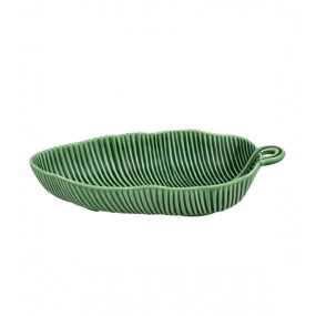 Taça Folha Bananeira 28cm Verde