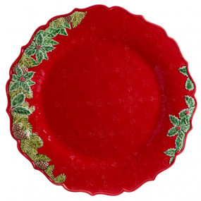 Coroa de Natal - Prato Marcador 35,5 Bordallo Pinheiro