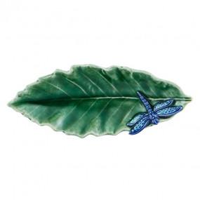 Folha Castanheiro com Libélula 16cm