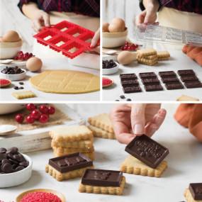 Cortadores Natal co Molde Chocolate