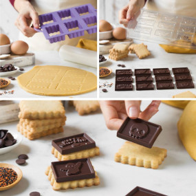 CORTADORES HALLOWEEN COM MOLDE CHOCOLATE