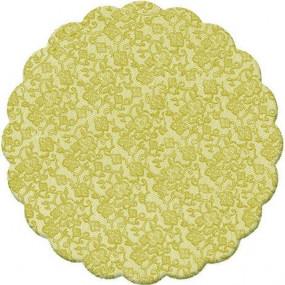 100 Tapetinhos Brigadeiro Dourado