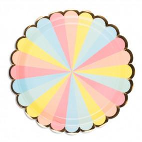 Pratos Riscas Rainbow 23cm
