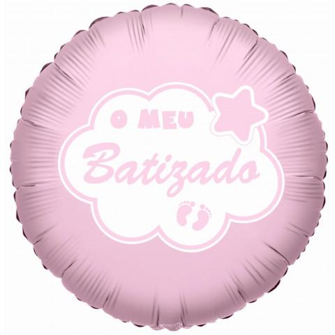 Balão Batizado ROSA - 45CM