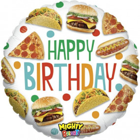 Balão HAPPY BIRTHDAY FOOD 53cm