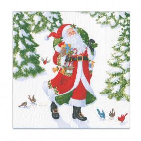 Guardanapos Woodland Santa