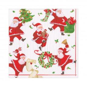 Guardanapos Dancing Santas