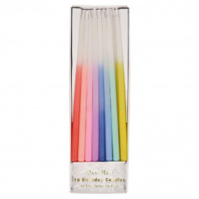Velas Rainbow Dipped