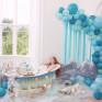 Kit Arco Balões e Fitas em Azul