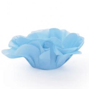 Forminhas Brigadeiro Flor Azul Claro - Conj.40