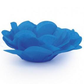 Forminhas Brigadeiro Flor Azul Royal - Conj.40