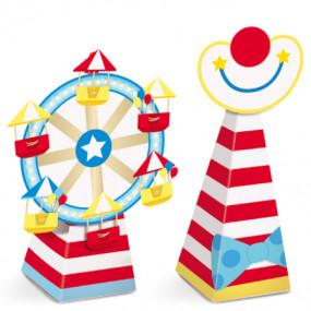 Caixas Circo Cones - conj.8