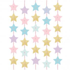 Cortina Estrelas Pastel
