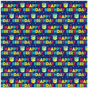 Papel Embrulho Happy Birthday