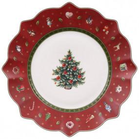 PRATO CHRISTMAS SOBREMESA RED
