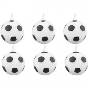 6 Velas Bolas Futebol