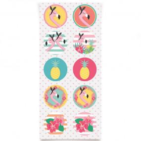 Etiquetas Flamingos - conj.30