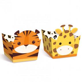 Forminhas Brigadeiro Tigre e Girafa - Conj. 24