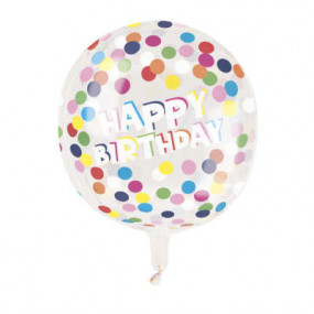 Balão Happy Birthday 38cm