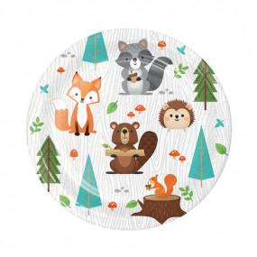 Pratos Animais Bosque