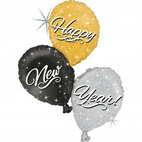 Balão Happy New Year 101cm
