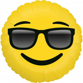 Balão Emoji Óculos 46cm