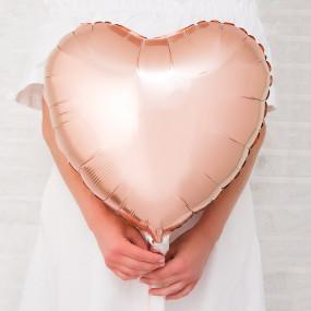 Balão Coração Rosegold 46cm