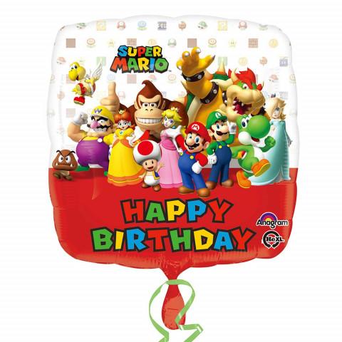 Balão Super Mario Bros 45cm