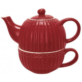 GREENGATE Tea For One ALICE RED
