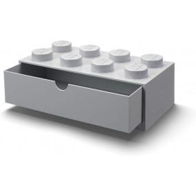 Caixa Lego Gaveta Secretária Cinza