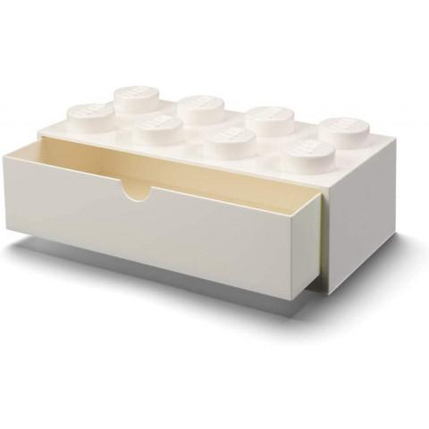 Caixa Lego Gaveta Secretária Branco