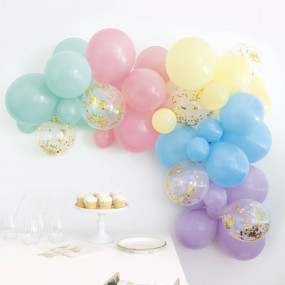 Arco Balões Pastel