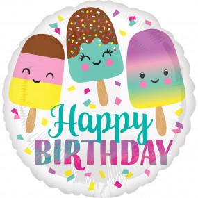 Balão Happy Birthday Gelados 45cm