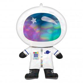 Balão Astronauta Holográfico 76cm