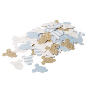 Confetis Baby body Azul