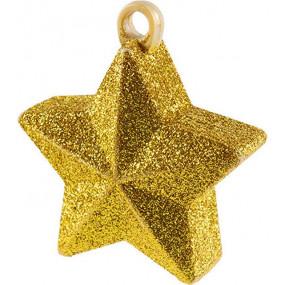 Peso Balão Estrela Dourada Glitter