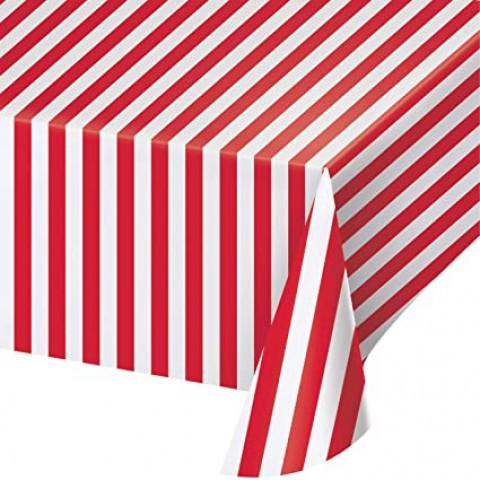 Toalha Vermelha Riscas