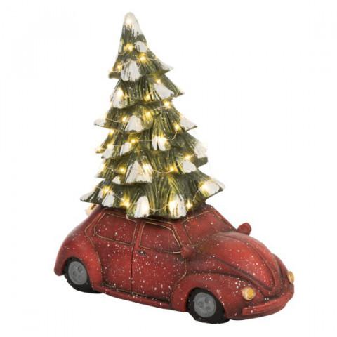 Carro Natal Iluminado 40cm
