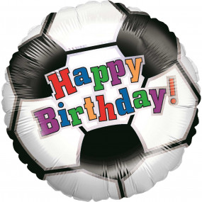 Balão Bola Futebol HAPPY BIRTHDAY 46cm
