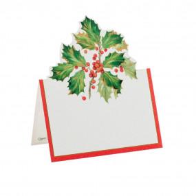 Cartões Marcadores Gilded Holly
