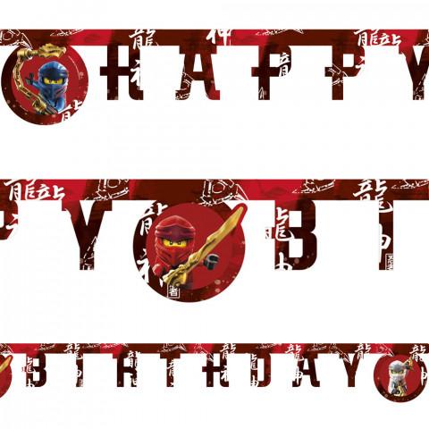 Banner Happy Birthday Lego Ninjago