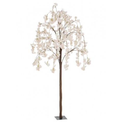 Árvore Decorativa Flores Brancas e Rosa