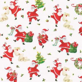 ROLO PAPEL Dancing Santas