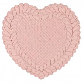 Individual Coração Rosa