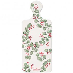 Greengate Tábua de Cerâmica Scarlett White