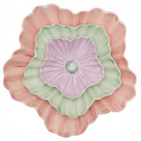 Greengate Pratos Flores Conj.3