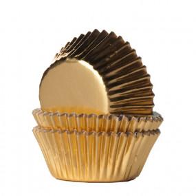 Formas Mini Cupcake Douradas - Conj. 36