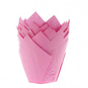 Conj. 36 Formas Túlipa Rosa