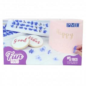 Marcadores Letras PME Fun Fonts - conj. 52