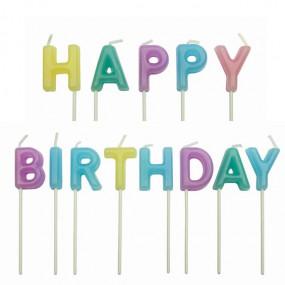 Velas Happy Birthday Pastel